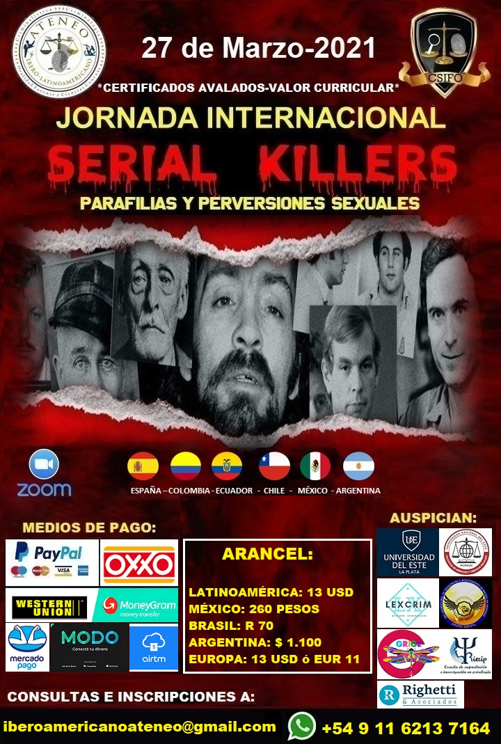 JORNADA SEMINARIO SERIAL KILLERS