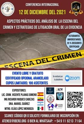 CONFERENCIA INTERNACIONAL ESCENA CRIMEN